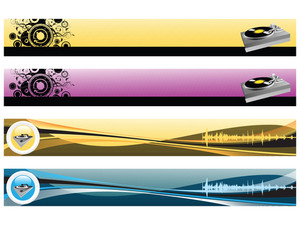 Web 2.0 Style Musical Series Website Banner Set 9