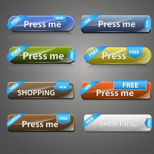 Web Buttons Vector Set