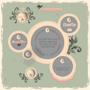Web Design Bubbles In Vintage Style