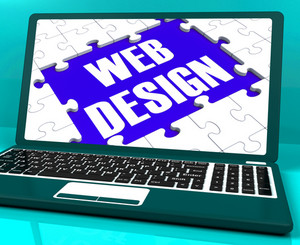 Web Design On Laptop Showing Creativity