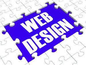 Web Design Puzzle Shows Website Content