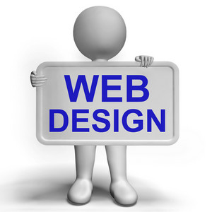 Web Design Sign Shows Creativity And Web Concepts