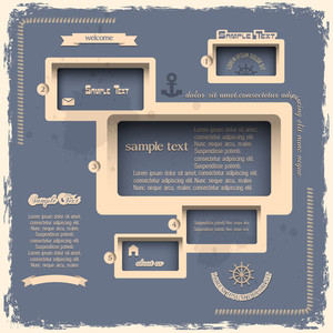 Web Design Template In Retro Style