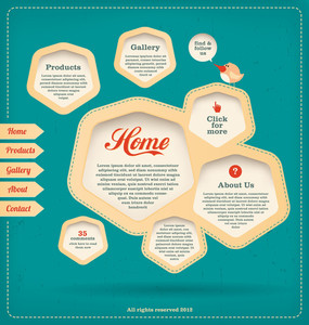 Web Design Template - Retro Landing Page