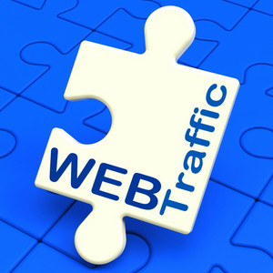 Web Traffic Shows Visitors To Website