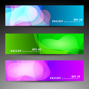 Website Banner Or Header With Colorful Abstract Design.