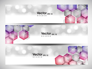 Website Header Or Banner Set