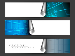 Website Header Or Banner Set.