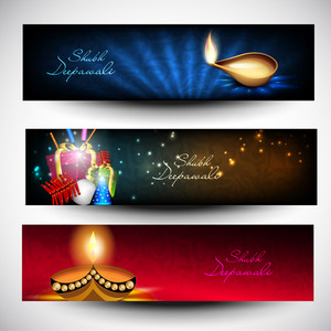 Website Headers Or Banners For For Hindu Community Festival Diwali Or Deepawali.