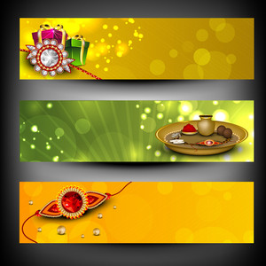 Website Headers Or Banners For Raksha Bandhan Celebration.