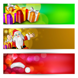 Website Headers Or Banners With Gift Boxes