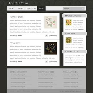 Website Layout Comp Vector Illustration