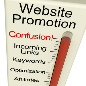 Website Promotion Confusion Shows Online Seo Strategy And Development