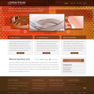 Website Template Vector Illustration