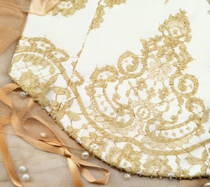 Wedding Background (corset And Peals)