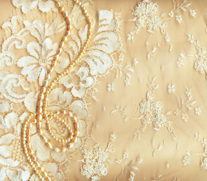 Wedding Background With Cream Silky Decoration Accessories