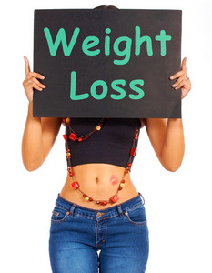 Weight Loss Sign Shows Dieting Advice