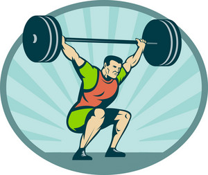 Weightlifter Lifting Heavy Weights