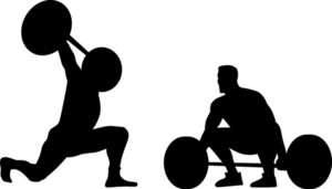 Weightlifters Silhouette