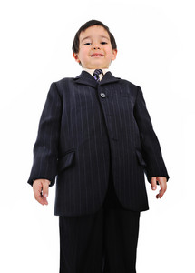 Well dressed kid (business)