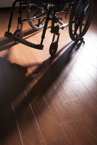 Wheelchair located at home