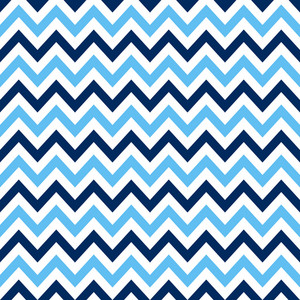 White And Blue Nautical Chevron Pattern