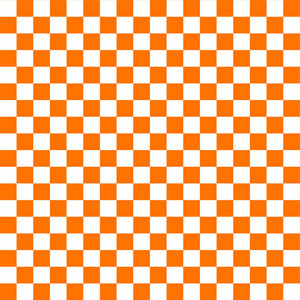 White And Orange Checkerboard Pattern