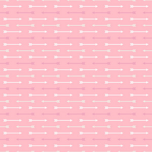 White Arrows Pattern On A Pink Background