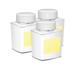 White Bottles Vector