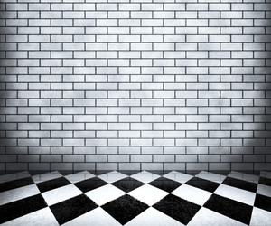 White Chessboard Interior Background