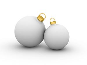 White Christmas Balls