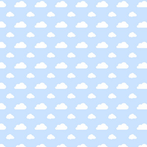 White Cloud Pattern On A Blue Background