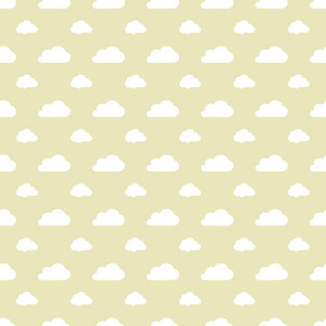 White Cloud Pattern On A Brown Pastel Background