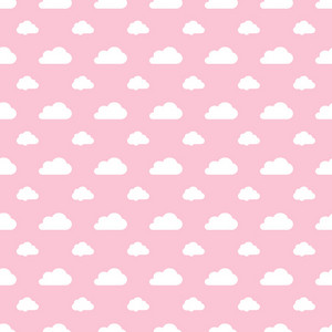 White Cloud Pattern On A Pink Pastel Background