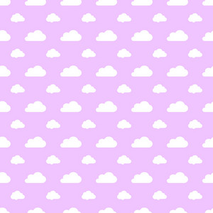 White Cloud Pattern On A Purple Pastel Background