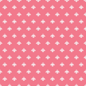 White Crowns Pattern On A Romantic Pink Background