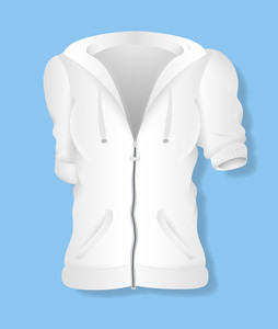 White Female Jersey Design Vector Illustration Template