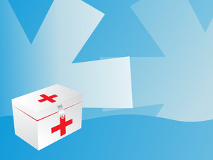 White First Aid Box With Red Cross