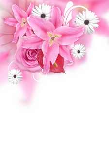 White Flourish Background
