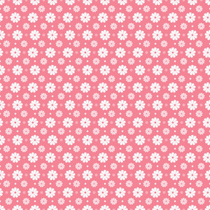 White Flowers Pattern On A Romantic Pink Background