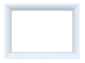 White Frame Isolated On White Background.