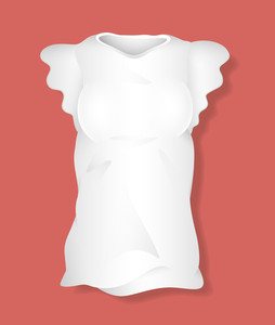 White Girl Top Design Vector Illustration Template