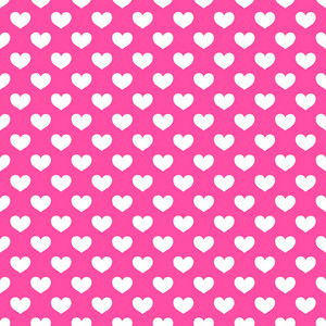 White Hearts Pattern On A Pink Background