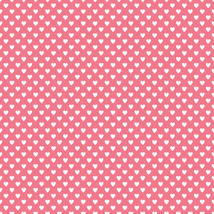 White Hearts Pattern On A Romantic Pink Background
