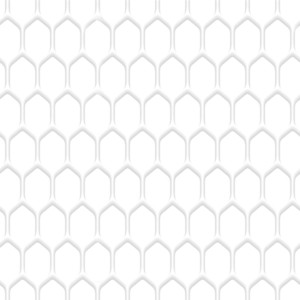 White Honeycomb Pattern Background