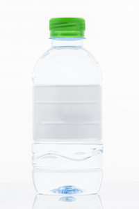 White Label water bottle isolated on white background