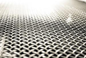 White metal grid