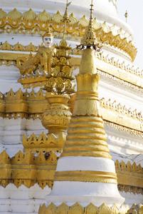 White pagoda ,Maehongson province, Thailand.