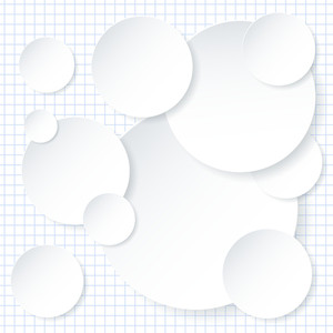 White Paper Infographic Background Design Template. Vector.