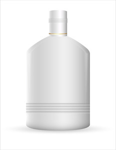 White Plastic Bottle Illustration